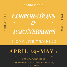 Load image into Gallery viewer, April 29 - May 1, 2019 Live Partnership & Corporation Class