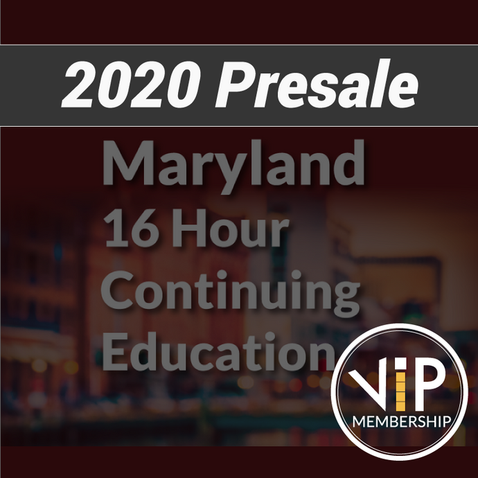 VIP Membership with 16 Hour Maryland