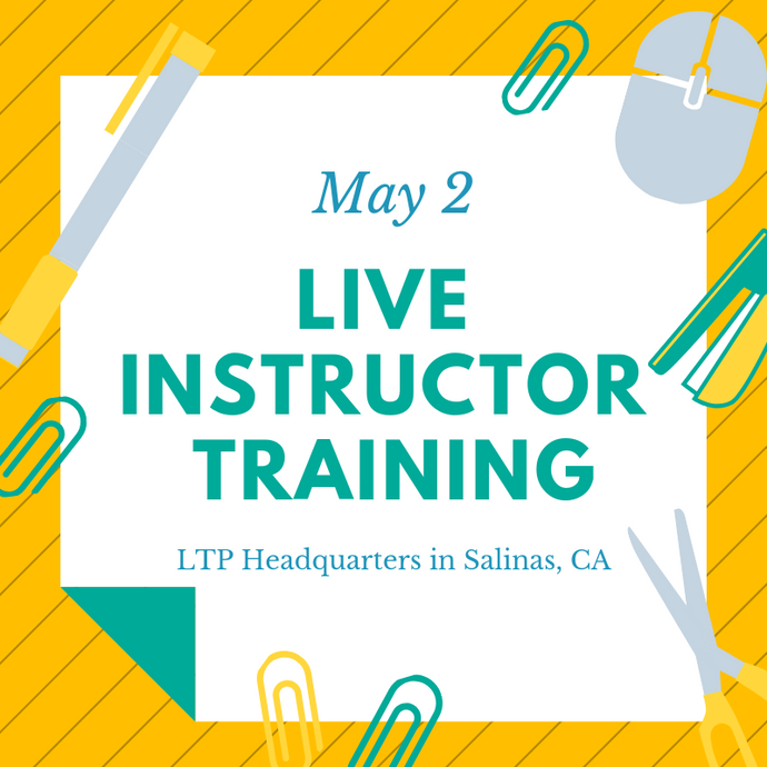 Live Instructor Training - May 2nd, 2019