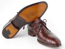 Load image into Gallery viewer, Paul Parkman Men's Brown Genuine Crocodile Derby Shoes (ID#55W77)