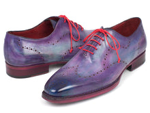 Load image into Gallery viewer, Paul Parkman Men's Wingtip Oxfords Goodyear Welted Purple (ID#87PRP11)