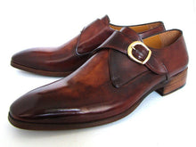 Load image into Gallery viewer, Paul Parkman Men's Monkstrap Dress Shoes Brown & Camel (ID#011B44)