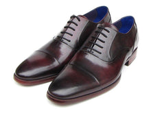 Load image into Gallery viewer, Paul Parkman Men's Captoe Oxfords Black Purple Shoes (ID#074)