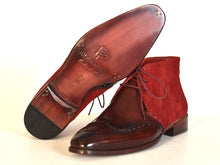 Load image into Gallery viewer, Paul Parkman Men's  Chukka Boots Bordeaux Suede & Leather (ID#CK51-BRD)