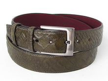 Load image into Gallery viewer, Crocodile Embossed Calfskin Leather Belt Hand-Painted Green