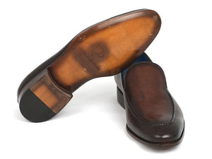 Paul Parkman Perforated Leather Loafers Brown (ID#874-BRW)