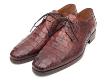 Load image into Gallery viewer, Paul Parkman Men's Light Brown Crocodile Embossed Calfskin Derby Shoes (ID#1438TAB)