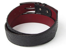 Load image into Gallery viewer, Men's Black Genuine Python (snakeskin) Belt