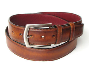 Men's Leather Belt Hand-Painted Tobacco