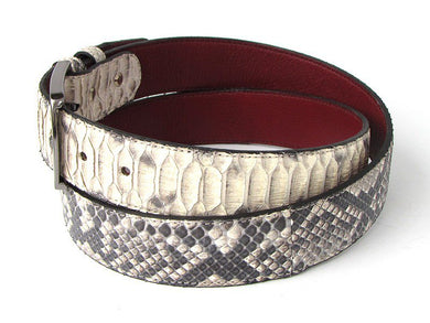 Men's Natural Genuine Python (snakeskin) Belt