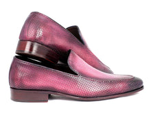 Load image into Gallery viewer, Paul Parkman Perforated Leather Loafers Purple (ID#874-PURP)