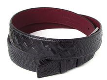 Load image into Gallery viewer, Men's Crocodile Embossed Calfskin Leather Belt Hand-Painted Black