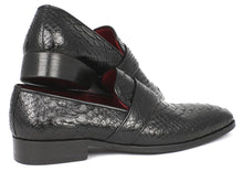 Load image into Gallery viewer, Paul Parkman Men's Genuine Python Loafers Black (ID#11BLK62)