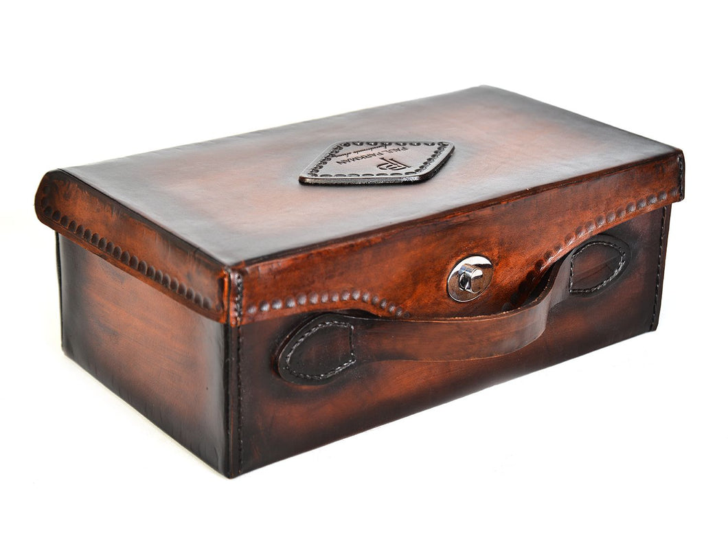 Paul Parkman Handcrafted Leather Shoe Case (ID#625CASE-BRW)