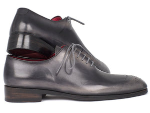 Men's Gray & Black Wholecut Oxfords (ID#KR254GRY)