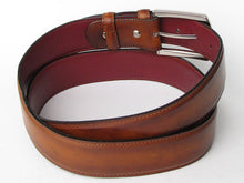 Load image into Gallery viewer, Men's Leather Belt Hand-Painted Tobacco