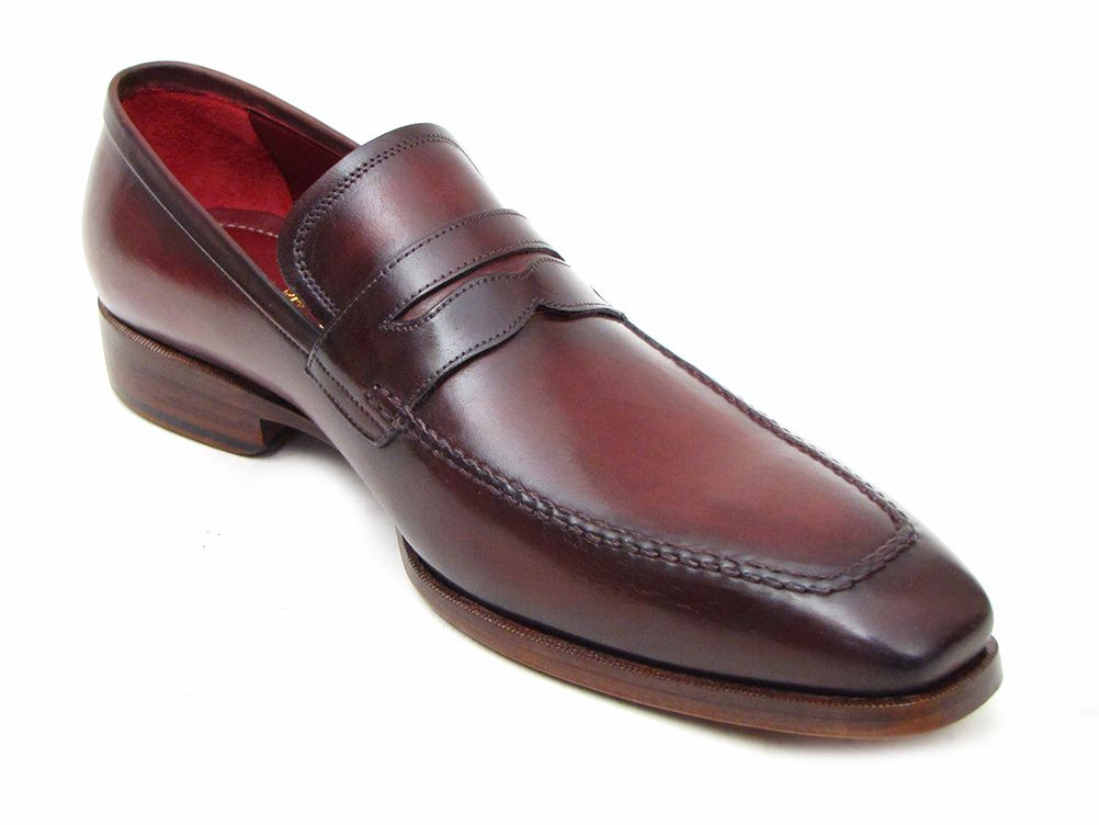 Paul Parkman Men's  Penny Loafer Bordeaux Calfskin (ID#10FD61)