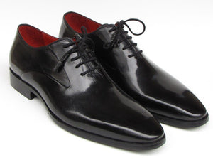 Paul Parkman Men's Black Oxfords Leather Upper and Leather Sole (ID#019)