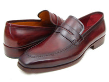 Load image into Gallery viewer, Paul Parkman Men's  Penny Loafer Bordeaux Calfskin (ID#10FD61)