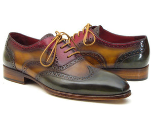Paul Parkman Men's Three Tone Wingtip Oxfords (ID#PP22F75)