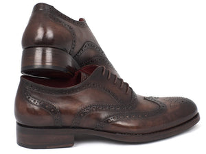 Paul Parkman Wingtip Oxfords Goodyear Welted Brown (ID#027-BRW)