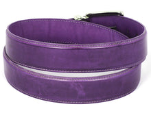 Load image into Gallery viewer, PAUL PARKMAN Men's Leather Belt Hand-Painted Purple (ID#B01-PURP)