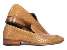 Load image into Gallery viewer, Paul Parkman Perforated Leather Loafers Beige (ID#874-BEJ)