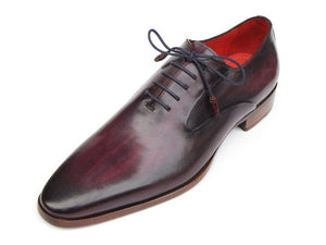 Paul Parkman Men's Plain Toe Oxfords Purple Shoes (ID#019)