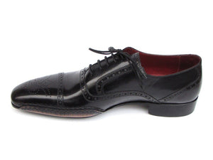 Paul Parkman Men's Captoe Oxfords Black Shoes (ID#5032)