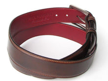 Load image into Gallery viewer, Men's Leather Belt Hand-Painted Brown