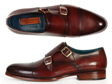 Load image into Gallery viewer, Paul Parkman Men's Cap-Toe Double Monkstraps Brol Dark Brown (ID#045)