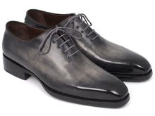 Load image into Gallery viewer, Paul Parkman Goodyear Welted Wholecut Oxfords Gray Black Hand-Painted (ID#044GRY)