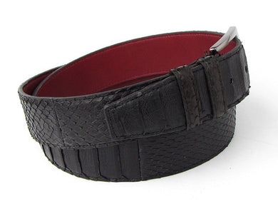 Men's Black Genuine Python (snakeskin) Belt