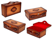 Load image into Gallery viewer, Paul Parkman Handcrafted Leather Shoe Case (ID#625CASE-BRW)