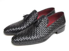 Load image into Gallery viewer, Paul Parkman Men's Tassel Loafer Black Woven Leather (ID#085)
