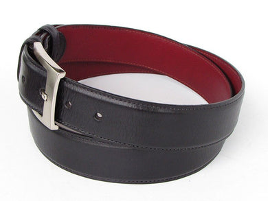Men's Leather Belt Hand-Painted Black