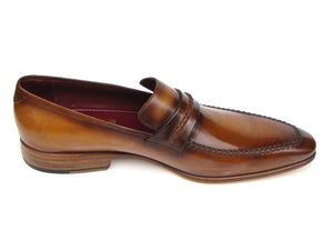 Paul Parkman Men's Loafer Brown Leather Shoes (ID#068)