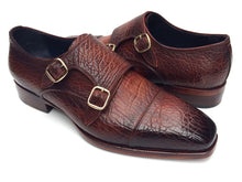 Load image into Gallery viewer, Paul Parkman Men's Double Monkstraps Brown Leather Upper & Leather Sole (ID#BG12-BRW)