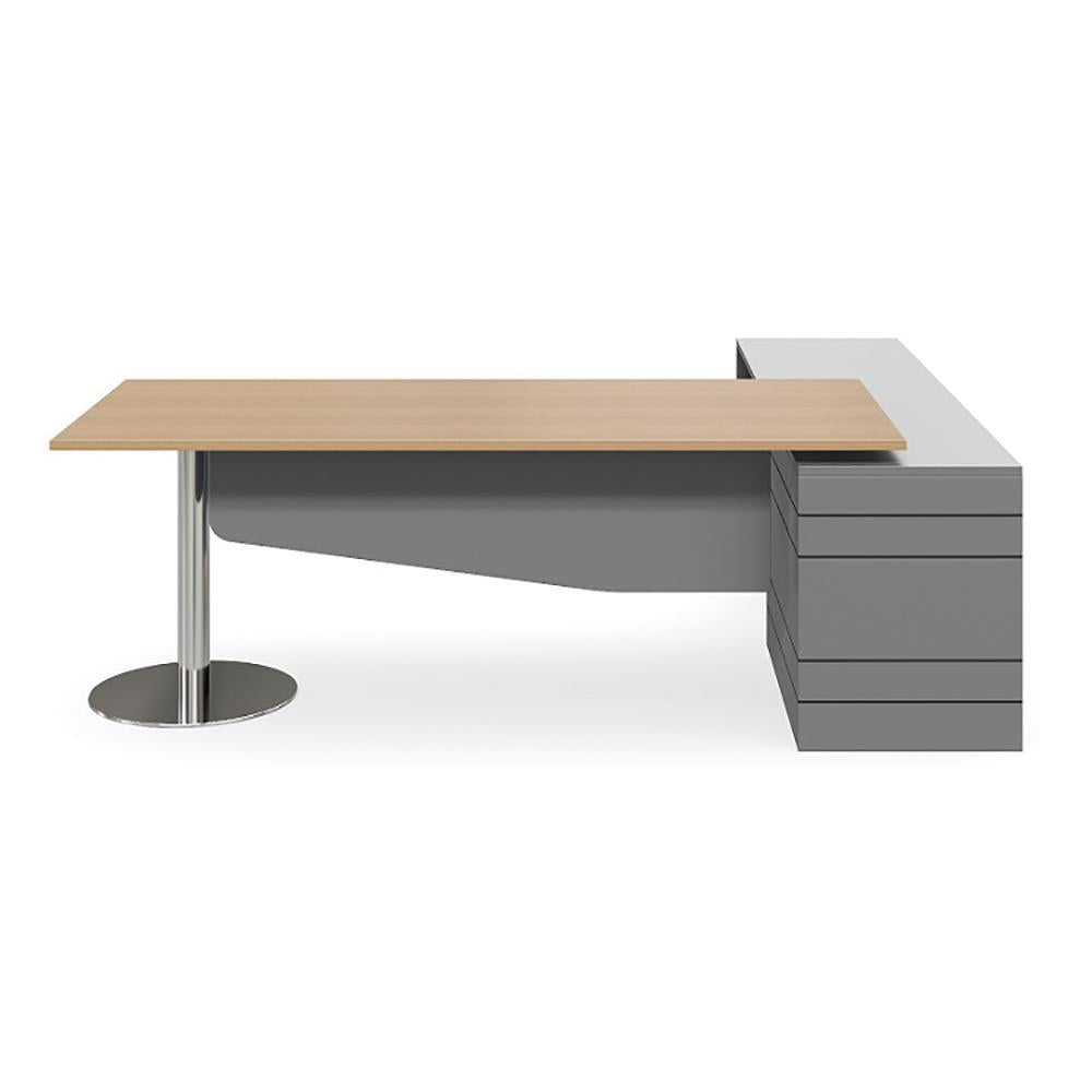 Geo Verse Polished Base Executive Premium Desk