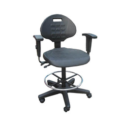 Industrial Drafting Chair with Arms
