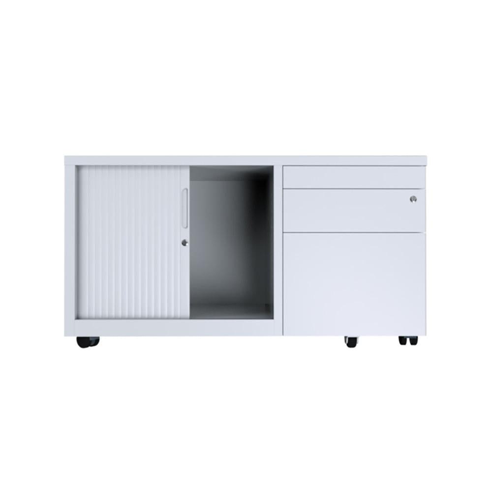 Ausfile 3 Drawer Tambour Caddy with 1 Shelf
