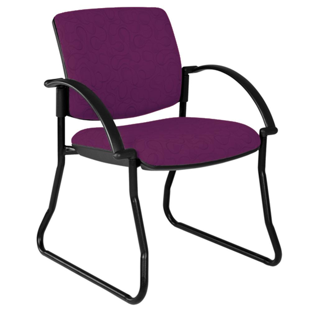 Maxi Sled Black Frame Visitor Chair with Arms