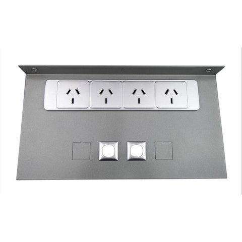 Vertical Quad Power Mounting Plate