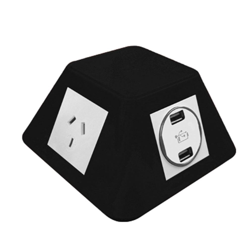 Pyramid On Desk 2 Switched 10A Socket Outlet