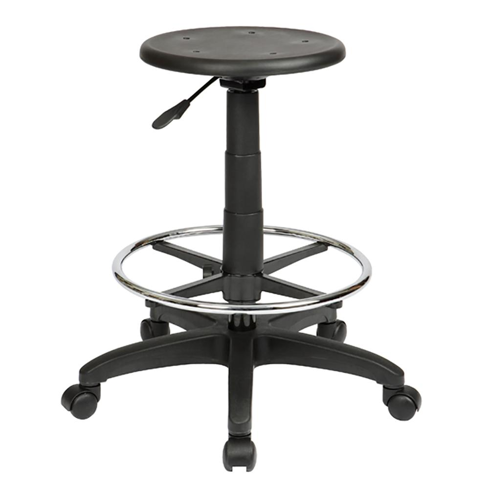 Round Industrial Drafting Stool with Lever