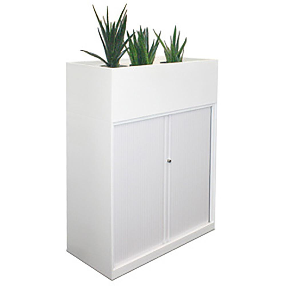 Tambour Cabinet with Planter