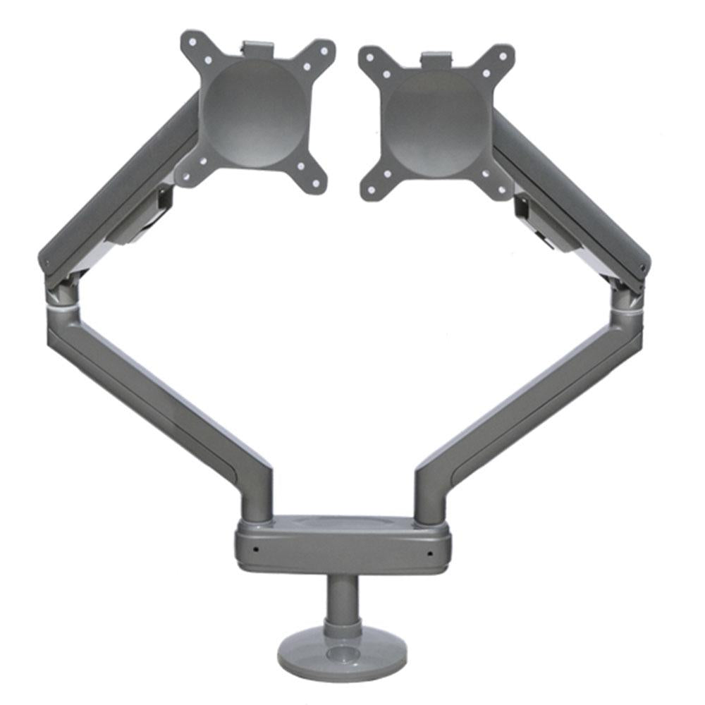 Spring Assisted Double Monitor Arm