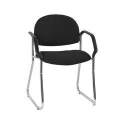 Vera Chrome Sled Base Chair with Arms