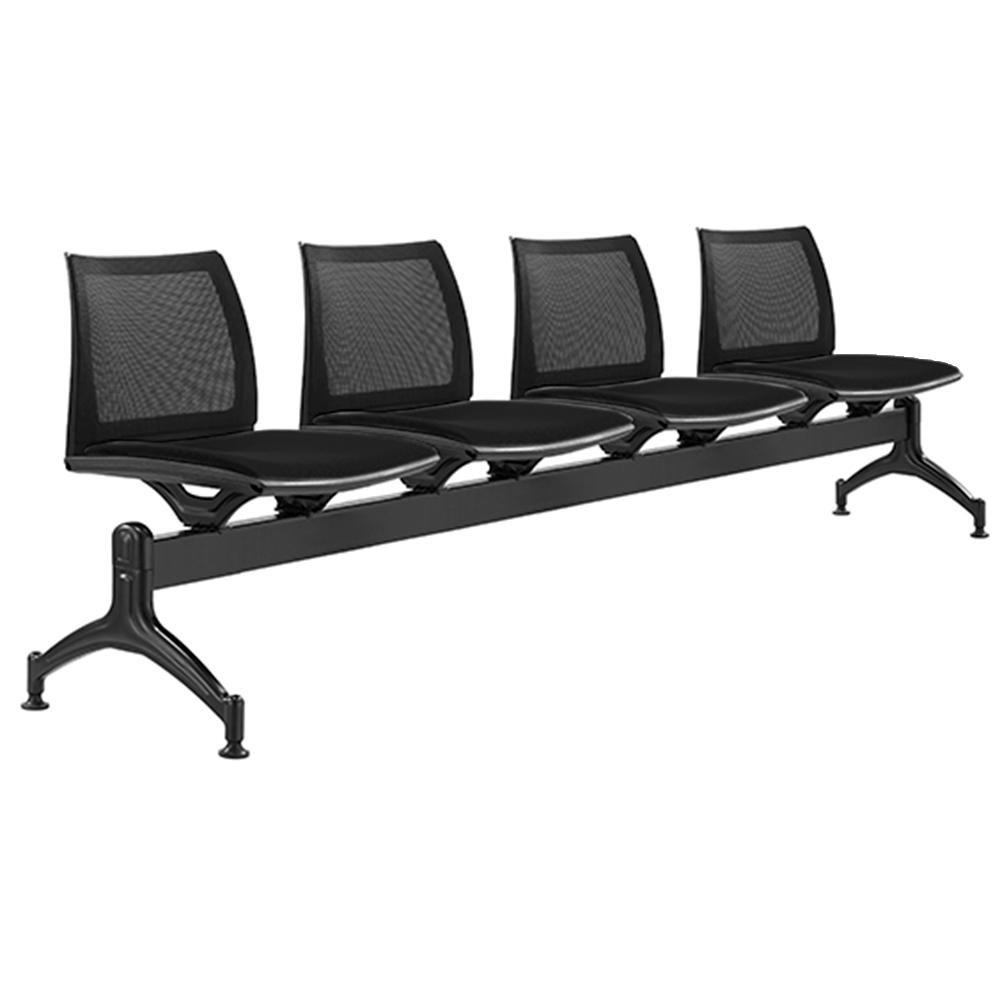 Vinn Mesh Back Four Seater Beam Chair