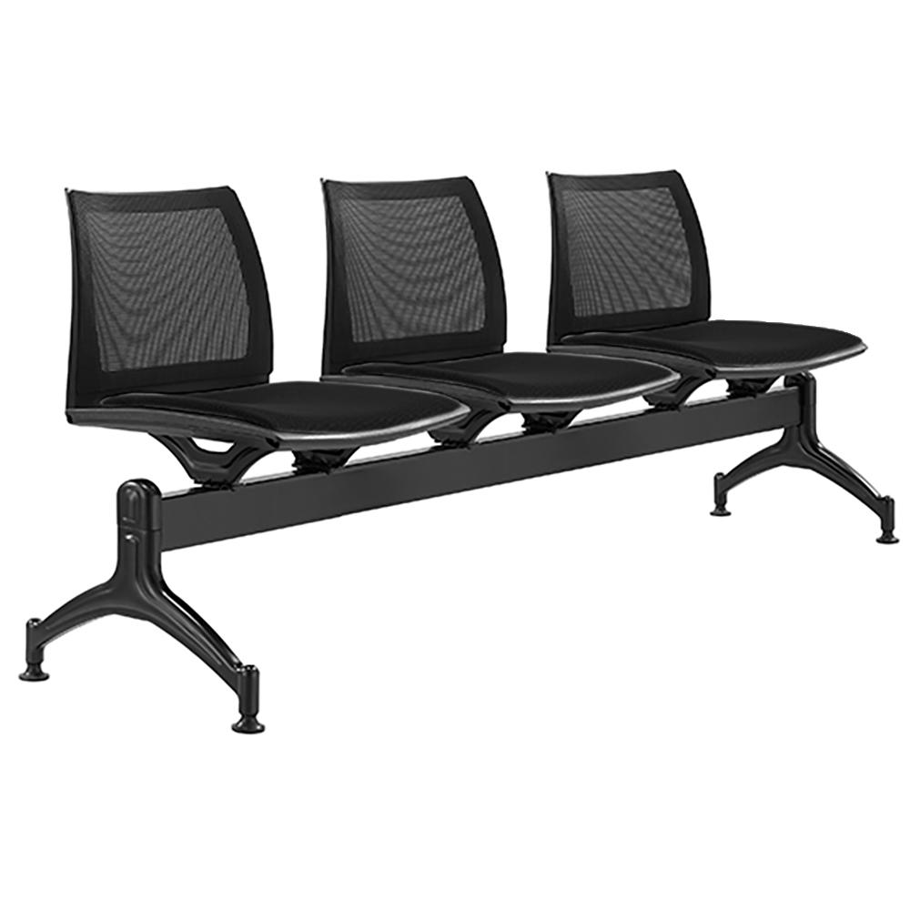 Vinn Mesh Back Three Seater Beam Chair
